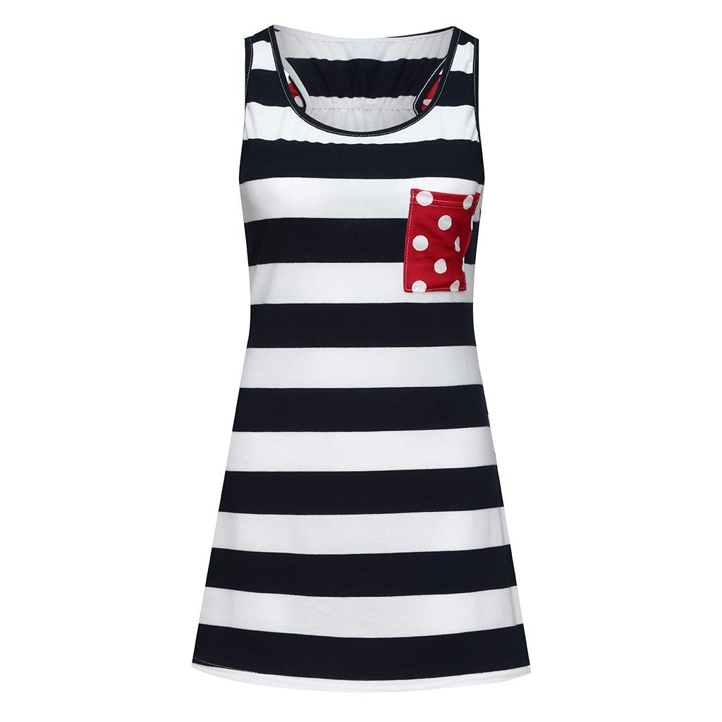 Summer Family Outfits For Independence Day 5-6Years, Red Mommy Me Summer Sleeveless American Flag Vest Shirt Blouse 4th Of July Baby Dress