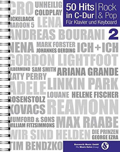 50 Hits In C Dur Rock And Pop Band 2  Noten Songbook Für Klavier Gesang Keyboard