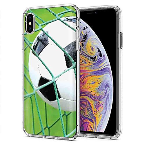 (iPhone Xr [NakedShield] Slim Flex Gel Skin Case Apple iPhone Xr [Soccer Goal] Design)
