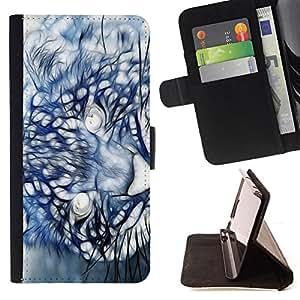 - Mountain Lion Puma Painting - - Prima caja de la PU billetera de cuero con ranuras para tarjetas, efectivo desmontable correa para l Funny HouseFOR Apple Iphone 6 PLUS 5.5