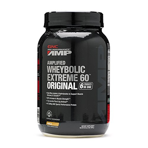 Gnc Protein Whey (GNC Pro Performance AMP Wheybolic Extreme 60 Original Whey Protein Vanilla 3)