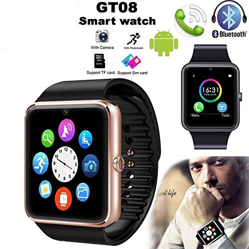 NSADBVTW GT08 Bluetooth Reloj Inteligente Teléfono Andriod iOS ...