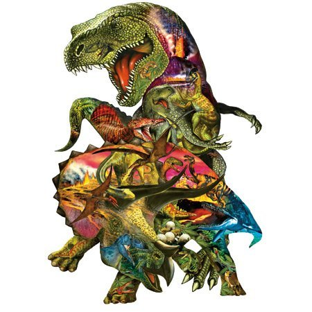 SunsOut T Rex Attack 1000 pc Jigsaw Puzzle