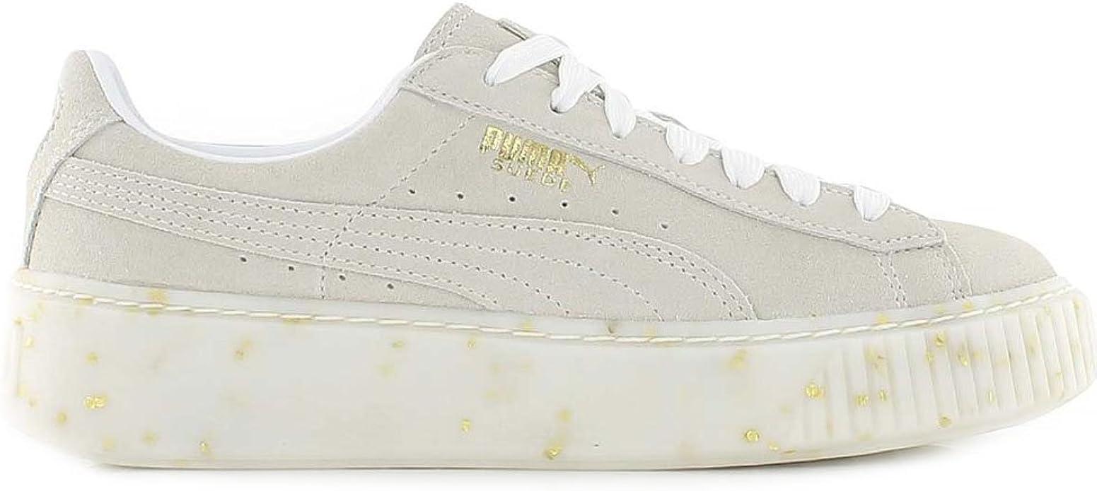Puma Sneakers Suede Platform Celebrate Wn's Beige Oro 365621 02