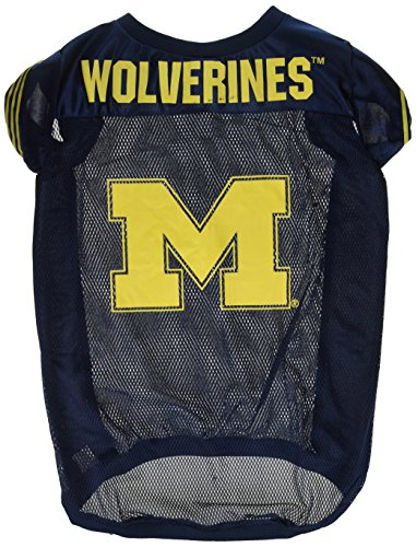 Soccer Player Costume For Dogs (NCAA Michigan Wolverines Football Dog Jersey, X-Large)