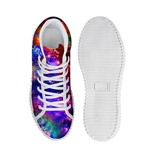 Bigcardesigns Classical Galaxy Design High Top Casual Sneakers Lace Up Flat Shoes Unisex Style4 55eP73B4Zw