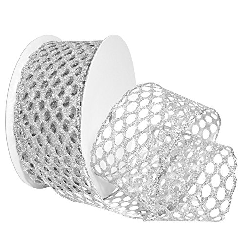 Morex Ribbon Wired Polyester Honeycomb Luxe Ribbon, 2.5