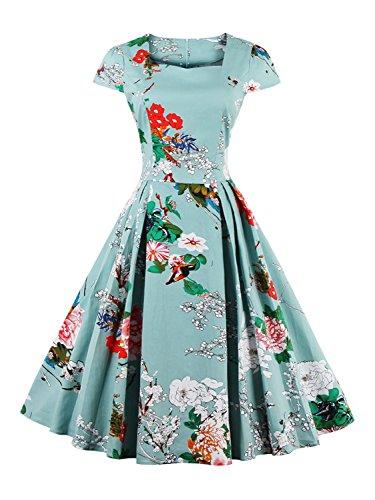 Floral Tea Length Dress