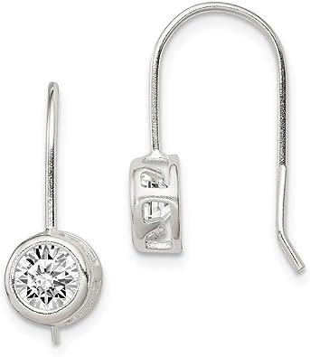 Solid 925 Sterling Silver Hook Drop Earrings Gift Boxed