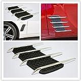 Vetra Car Air Flow Side Vent Exterior Grille Decorative Duct (Set of 2) For Hyundai Elite i20