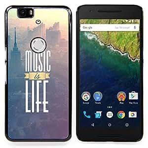 SKCASE Center / Funda Carcasa protectora - La música es vida impresiones;;;;;;;; - Huawei Google Nexus 6P