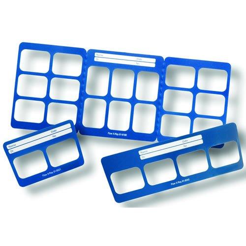 Flow Dental 23203 2H Grip Right Plastic Mounts, Vinyl, 2 Horizontal Windows, Size 2 (Pack of 100)