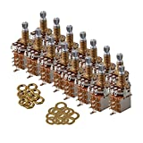 Mxfans B500K Pull Pots Push Gold Plated 18mm Shaft Guitar Potentiometer Set of 15