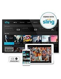 AirTV   Transmisor de canales locales de doble sintonizador para televisores móviles   Compatible con DVR   Funciona con Sling TV AirTV Negro