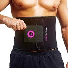 ActiveGear Premium Waist Trimmer Belt Slim Body Sweat Wrap for Stomach and Back Lumbar Support