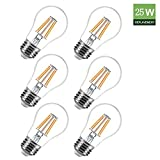 MRDENG 2015 New 25 Watts Equivalent Energy-Saving 120V 2W A15 E26 LED Dimmable Filament Bulb UL Certificate Light replace Incandescent lamp Pack of 6