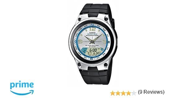 CASIO AW827AVES - Reloj de caballero de cuarzo, correa de resina color negro: Amazon.es: Relojes