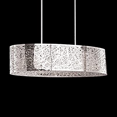8 Light Inca E21310-10pc Oval Shade Bird Nest Chandelier Pendant Ceiling Lamp Length 32""