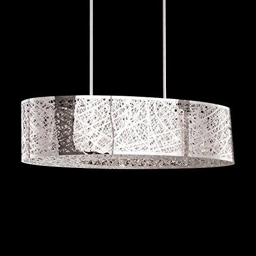 (8 Light Inca E21310-10pc Oval Shade Bird Nest Chandelier Pendant Ceiling Lamp Length 32