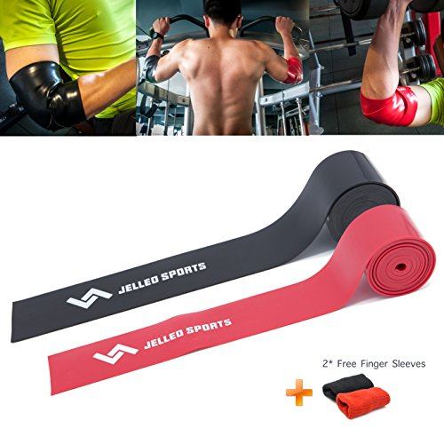 Jelleo WOD Floss Compression Bands by KHEJA - Tack and Flossing bands for Muscles Relieve & Recovery - Improving Mobility, Enhancing Circulation & Reducing Soreness