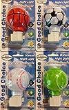 Good Choice Manual Sports Night Lights, Basketball, Baseball, Soccer and Tennis, 4-pc Set