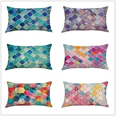 FORUU Throw Pillowcase, Pattern Pillowcase Pillow Case Covers Cushion Sofa Home Car Decor