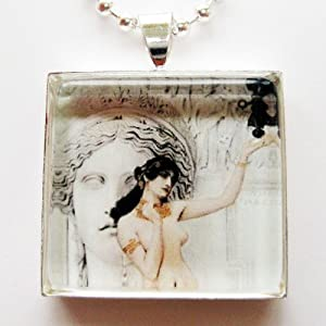 Amazon allegory of sculpture by gustav klimt glass tile pendant allegory of sculpture by gustav klimt glass tile pendant necklace aloadofball Image collections