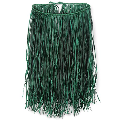 Beistle 50430-G Adult Raffia Hula Skirt, 31 by 28-Inch (Hawaiian Hula Skirt)