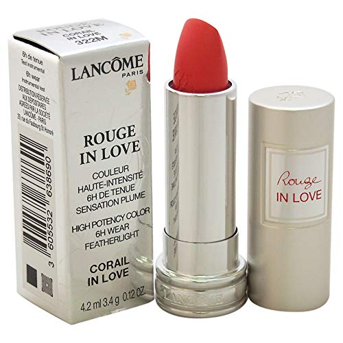 Lancome Rouge In Love High Potency Color Lipstick, 322M Corail In Love, 0.12 Ounce ()