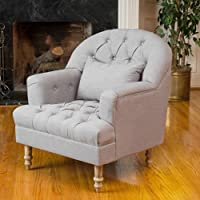 Christopher Knight Home 295002 Anastasia Tufted Chair, Grey