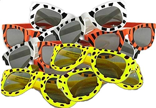 (Fun Express Assortment Animal Print Sunglasses (2 Dozen), Multicolor)