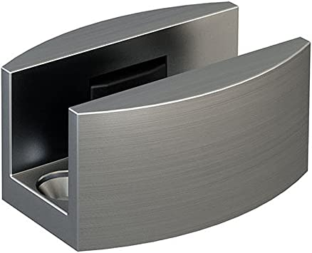Piso de acero inoxidable guía de repuesto para sin Marco puerta corredera de cristal: Amazon.es: Bricolaje y herramientas