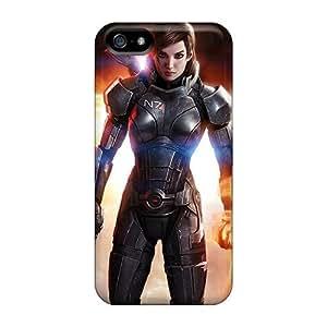 Mwaerke DpIYaCX401AVQmK Case Cover Iphone 5/5s Protective Case Mass Effect 3 3d Femshep Commander Shepard