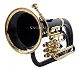eMusicals Euphonium Bb Pitch With Free Bag and MouthPiece , Black Color + Brass