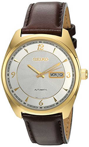 Seiko Men's 'Recraft Series' Japanese Automatic Brown Leather Dress Watch (Model: SNKN70) (Watch Mens Dress Automatic Jewel)