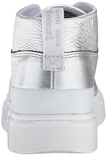 Dr. Martens, Damen Stiefel & Stiefeletten Silberfarben/Weiß