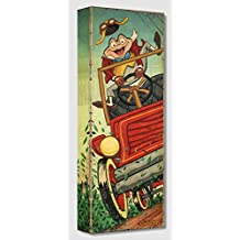 Disney Fine Art The Wild Ride - Treasures on Canvas Mr Toad's Wild Ride - 24 x 9 Gallery Wrapped Canvas Wall Art by Trevor Carlton