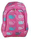 NBN -27-P Trendy Pink Whale Pattern Big Backpack