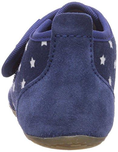 Living Kitzbühel Babyklettschuh Stern - Zapatos primeros pasos de lona para niño azul - Blau (570 marine)