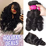 Best Hair Bundles With Free Parts - Tinashe 8a Brazilian Hair Loose Wave 3 Bundles Review