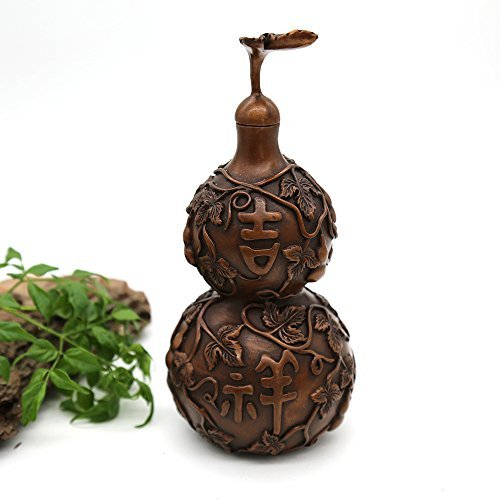 Yong He Xuan Hand-made Red Copper Gourd Decoration Net Weight: 600g (Approx.) Hand-made Chinese Classical Style Traditional Technology