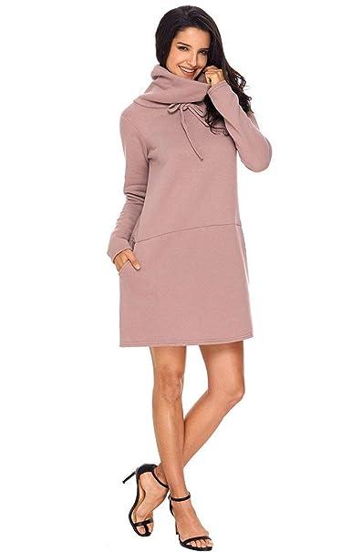 Mujer Vestidos Primavera Otoño Mini Vestido Elegante Moda Vintage Casual Manga Larga Colores Sólidos Ropa Vestidos