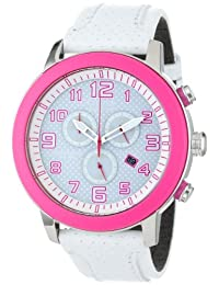 Citizen AT2230-03A Eco-Drive Unisex Drive Pink Stainless Steel White Dial Chronograph Watch