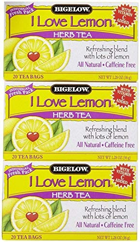 - Bigelow I Love Lemon Tea Bags - 20 ct - 3 pk