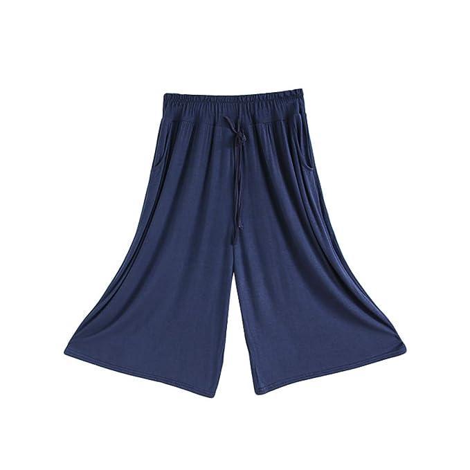 Anguang Pantalones Anchos Mujer Clasicos Yoga Pilates ...