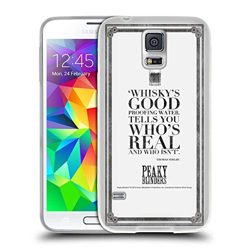 Official Peaky Blinders Whisky's Good Typography Soft Gel Case Compatible for Samsung Galaxy S5 / S5 Neo (Samsung Case Whiskey Galaxy S5)