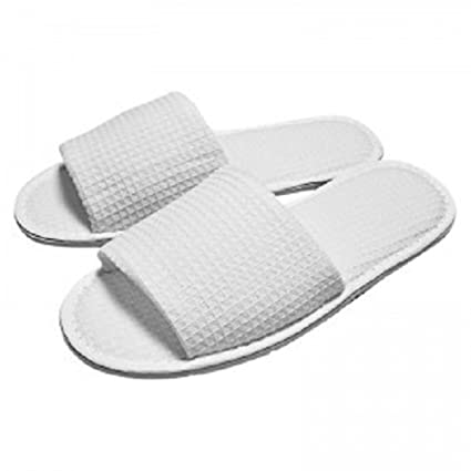 76228a5297e6 RPT - White Waffle Open Toe Slippers  Amazon.co.uk  Kitchen   Home