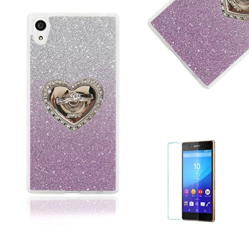 sony-xperia-xa-case-with-free-screen-protectorfunyye-soft-gel-tpu-durable-scratch-resistant-glitter-