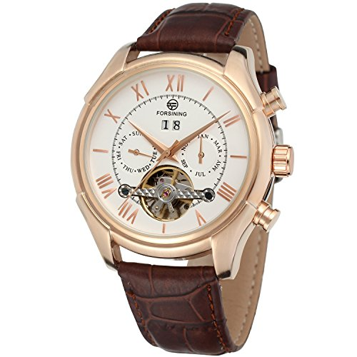 Forsining Men's Automatic Calendar Business Wrist Watch FSG583M3R2