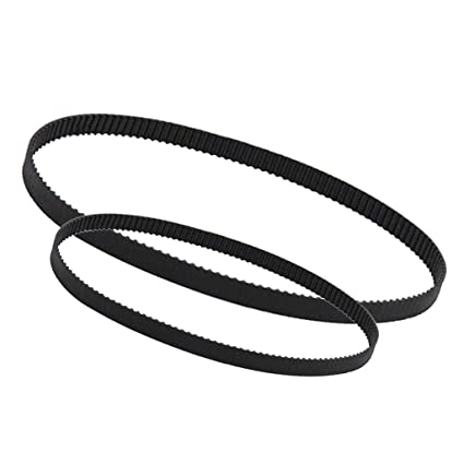 Sharplace 2 Piezas 2GT-6 Correa Distribución Impresora 3d Cinturón de Lazo Cerrado Caucho Negro